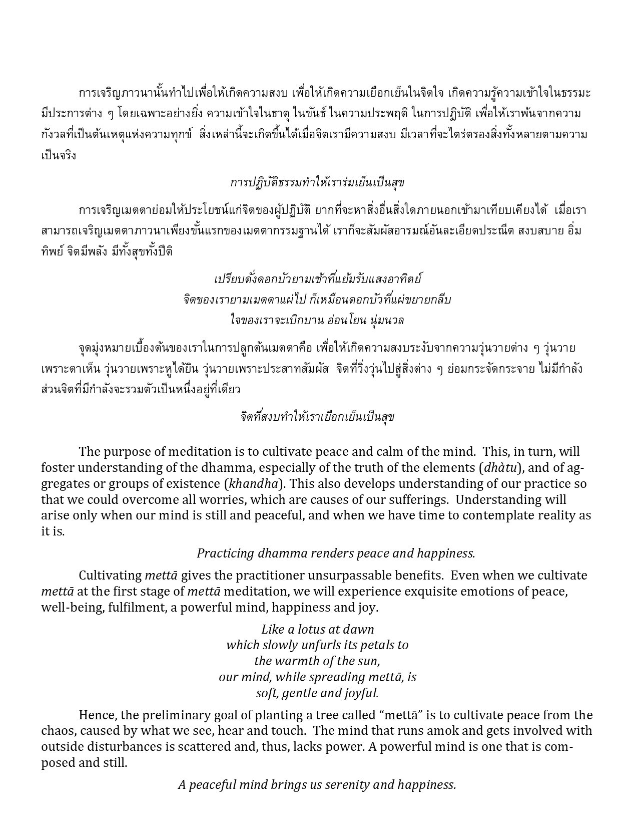Dhamma Translation